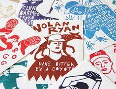 Left Field Cards by Amelie Mancini via Design Sponge.