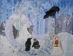 Snow Queen Quilt by Terri Allen Hans Christian, Queen Quilt, Snow Queen, Triptych, Narnia, Beautiful Creatures, Fairy Tales, Childhood, Fantasy