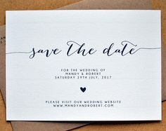 PRINTABLE Save the Date PDF  Personalised Simple by AmysAvenueUK