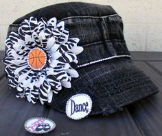 Detachable sport mom hat. 3 hats in one! For moms with more than one kid in more than one sport. You choose the sports you need. Personalization included. #basketballmom #dancemom #capsbykari
