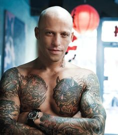 Ami James. i wouldn't get anything like that tattood on me, but I'm in love with Ami, lol.