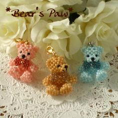 Beads Teddy Bear // Super cute ♥