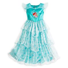 Shop Ariel products from Disney's The Little Mermaid including clothes, toys, accessroes & more. The undersea Disney Princess is a favorite with girls of all ages. Disney Princess Dresses, Disney Dresses, Girls Dresses, Classy Work Outfits, Outfits For Teens, Children Outfits, Little Mermaid Dresses, The Little Mermaid, Disney Nightgowns
