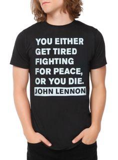 John Lennon Peace Quote T-Shirt | Hot Topic