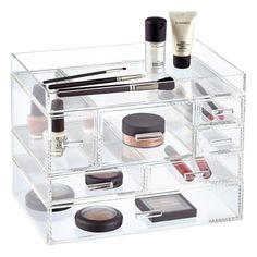 Clearly a great choice! Our hand-crafted Luxe Acrylic Modular Tray and Drawers stack securely for vertical storage.