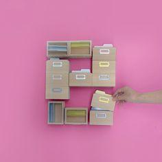 """ideaco's """"e"""". Card box tsumugi."""