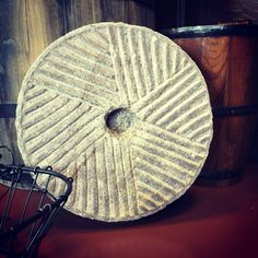 Granite Mill Stone in our store similar to the type used for stone ground grits. You can get Charleston's Own Stone Ground Grits at our shop or online. Stone Ground Grits, Specialty Foods, Best Brand, Charleston, Granite, Traditional, Type, Shop, Granite Counters
