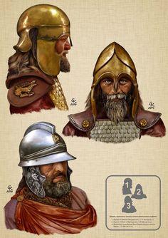 Antique Helmets used by the Scythians: 1.Kurgan the estate Kekuvatskogo 2.Kurgan near s.Pastyrskoe 3.Voinskoe burial near the Kerch highway Quarantine. Balto-Slavica> What were the Scythians?