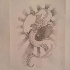 Ying Yang dragon design