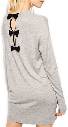 Bow Back Sweater Dress ღ