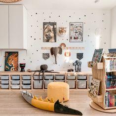 Fantasyroom Blog: Die schönsten Instagram Kinderzimmer - Spielzimmer mit Stauraum Toy Rooms, Kids Room Design, Kids Decor, Home Decor, Baby Boy Rooms, Baby Room Decor, Kidsroom, Kids Furniture, Room Inspiration