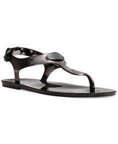 MICHAEL Michael Kors Plate Jelly Thong Sandals   macys.com