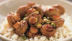 Mushrooms & rice.