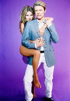 david bowie & kate moss, ellen-von-unwerth shoot, 2003