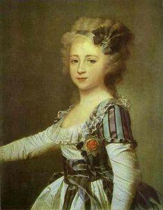 'Portrait of Grand Duchess Elena Pavlovna as a Child', Oil by Dmitry Grigoryevich Levitsky (1735-1822, Ukraine)