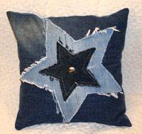 Denim Star Cushion