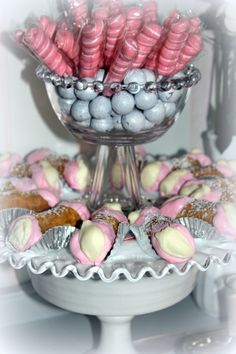 Pink & White Candy & Dessert Table for Bridal Shower Wedding & Event Table/ The Perfect Table Cape Cod