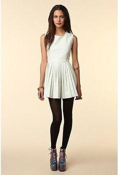 Shakuhachi Pleated Dress - StyleSays