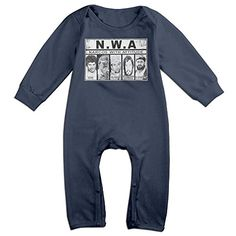 KIDDOS Baby Infant Romper Narcos With Attitude Long Sleeve Playsuit Outfits,Navy 18 Months ** Find out more details @