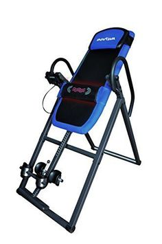 Inversion Therapy Table Heat Massage Back Pain Relief Gravity Exercise Equipment