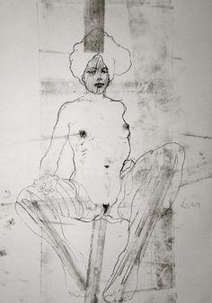 """Saatchi Online Artist Michael Lentz; Drawing, """"NUDE No. 2939"""" #art"""