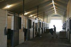 horse barn...concrete blocks