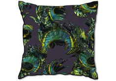 Velvet Cushion Tropical Royale