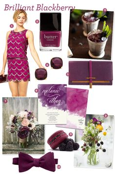 Fabulous Finds: Blackberry Wedding Inspiration