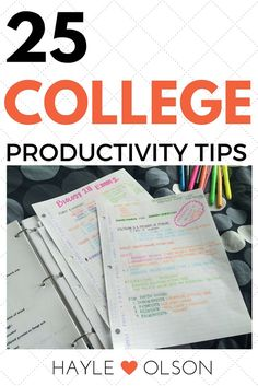Are you constantly procrastinating? Need some tips to stay productive? Then this is the post for you!! 25 College Productvity Tips are currently at your finger tips! Click to read more, or pin to read later :) Find my blog at www.hayleolson.com