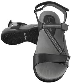 Stylish and comfortable, ladies golf sandals offer relief from leather golf shoes during the warmer months. Shop our large selection at Lori's Golf Shoppe! Check this out --> TANGO Black Sandbaggers Ladies Golf Sandals