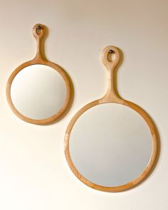 Lostine round maple sophia mirror large medium