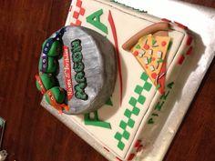 Ninja Turtle cake Turtle Birthday Parties, Ninja Turtle Birthday, Ninja Turtle Party, Birthday Fun, Ninja Turtles, Birthday Ideas, Tmnt Cake, Party Trays, Occasion Cakes