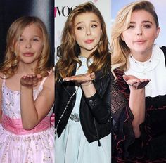 Chloe through the years My Wife Is, Chloe Grace Moretz, Elle Fanning, Beautiful Celebrities, American Actress, Pretty Woman, Sexy Women, Celebs, Actresses