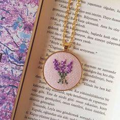 The dream of Güzel Bahar * was a necklace with black and white stripes and a pink heart .- Güzel Bahar*ın hayali siyah /beyaz çizgili ve pembe kalpli bir kolyeydi… The dream of Beautiful Spring * is black and white stripes and … - Tiny Cross Stitch, Cross Stitch Boards, Cross Stitch Bookmarks, Cross Stitching, Cross Stitch Embroidery, Cross Stitch Patterns, Silk Ribbon Embroidery, Hand Embroidery, Jewelry Crafts