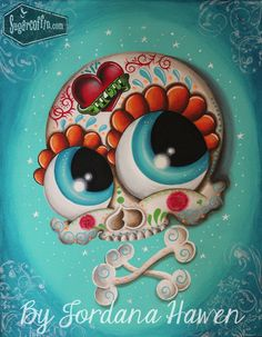 Sugar skull painting. SOLD
