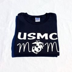 USMC Marine Corps Mom T-Shirt on Etsy, $16.99 thinking about getting stuff for the family after boot camp.