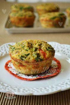 Muffins de quinoa, huevo y vegetales