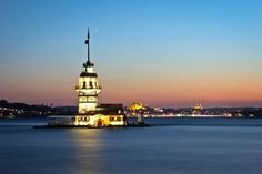 Maiden's Tower by Ozan Şafak on Photography Portfolio, Empire State Building, San Francisco Ferry, Istanbul, Tower, Travel, Rook, Viajes, Computer Case