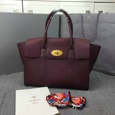 2016 F/W Mulberry New Bayswater Oxblood Natural Grain Leather
