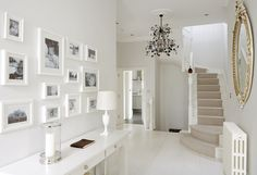beautiful white entrance hall