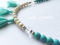 Ketten lang - Kette mit Quaste ★ Howlith ★ Boho - ein Designerstück von lady_chaos bei DaWanda