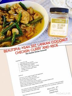 Looking for a quick tasty dinner tonight ? How does Sri Lankan Coconut Curry… Home Recipes, Gourmet Recipes, Healthy Recipes, Sri Lankan Recipes, Tasty, Yummy Food, Coconut Curry, Spice Blends, Fish Sauce