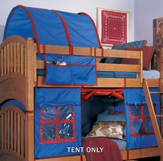 bunk bed tent--I need to make this for my son!