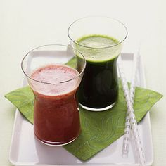 Cucumber, spinach and celery make this cleansing juice a good source of calcium, iron, and potassium. Recipe from Martha Stewart, found at www.edamam.com