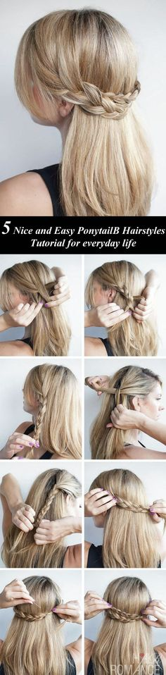 Looking for some nice and easy ponytail hairstyles idea?     We are here with five nice and easy ponytail hairstyles. Ponytails are casual  but if designed properly, it can be trendy as other fancy hairstyles. Though in  this article dedicated to nice and