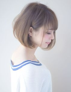 A soft short perm with elegance - New Site Fringe Hairstyles, Short Bob Hairstyles, Cool Hairstyles, Japan Hairstyle, Edgy Haircuts, Hair Setting, Good Hair Day, Short Hair Cuts, Short Perm