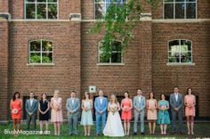 Alexis & Tom's Intimate Wedding Party: Multi-Colored Bridal Party