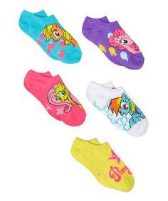 My Little Pony Socks - Set of Five - Girls #zulily #zulilyfinds
