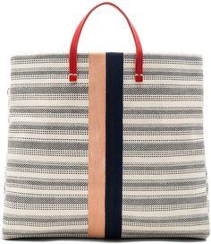 Clare V. Canvas Simple Tote Bag