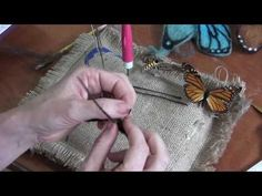 Needle Felted Butterfly - YouTube